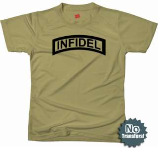Infidel Ranger Tab Military Army Cool Funny New T shirt