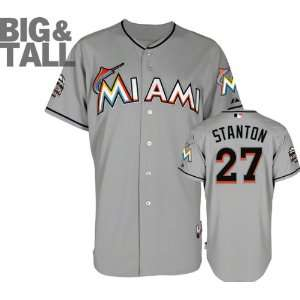 Authentic 2012 Giancarlo Stanton Road Cool Base Jersey w/Inaugural