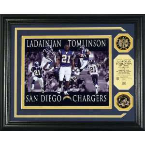 San Diego Chargers Dominance Photo Mint with Two 24KT Gold Coins