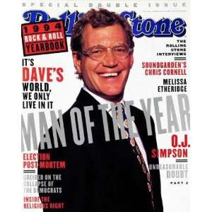 Rolling Stone Cover of David Letterman / Rolling Stone Magazine Vol