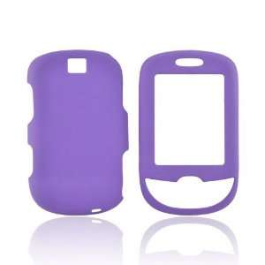 For Samsung ) Smiley Rubberized Hard Case Cover PURPLE