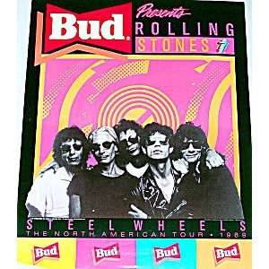 Rolling Stones Budweiser Steel Wheels Concert Poster