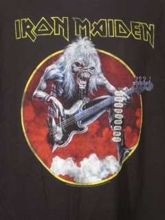 Mens T Shirt Rock & Roll Iron Maiden Eddie Rifting L