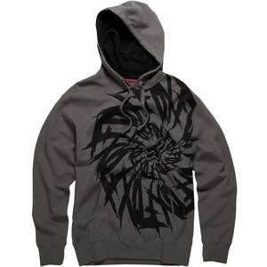 Fox Racing Dizzle Hoody   Large/Charcoal Automotive