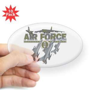 US Air Force with Planes and Fighter Jets with Emblem