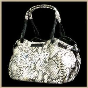BA7064 Faux Leather Handbag Pet Carrier in Snake Beige