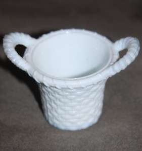 Degenhart Basket Toothpick Holder White Milk Glass A