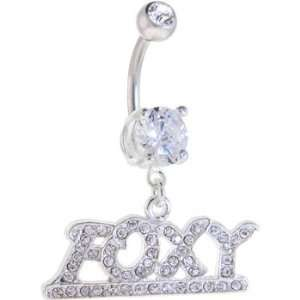 Crystalline Gem Foxy Dangle Belly Ring Jewelry