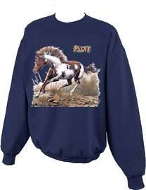 Beautiful Paint Horse Crewneck Sweatshirt S  5x