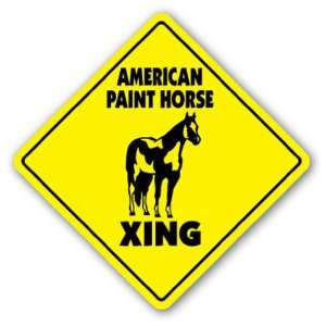 AMERICAN PAINT HORSE CROSSING Sign novelty animal Patio