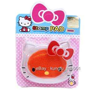 now free sanrio hello kitty die cut stamp ink pad inkpad orange