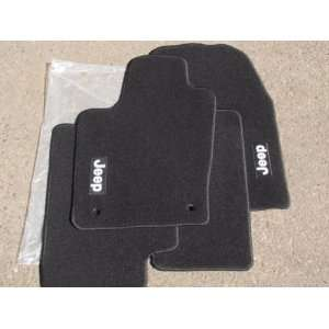 2012 Jeep Grand Cherokee Premium BLACK Floor Mats, OEM Automotive