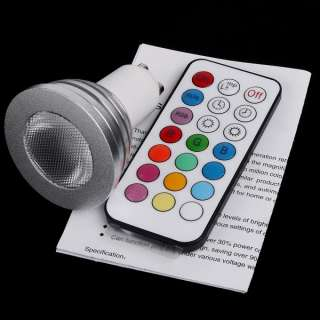 4W/9W GU10/MR16/B22/E27 RGB LED Light Bulb 2 Million Colors + Remote