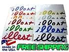 ILLEST JDM Decals Stickers 7 2 PACK You Pick Color Euro Drifting