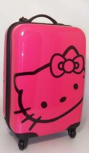 HELLO KITTY HARD CASE SUITCASE HAND LUGGAGE TROLLEY PIN