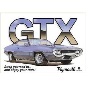 Chrysler Dodge Mopar Metal Tin Sign GTX Ride