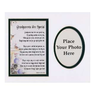 Grandparents Are Special Touching 8x10 Poem, Double matted In White