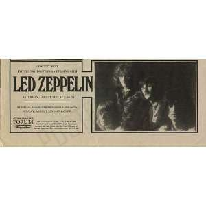 Led Zeppelin LA Forum Original Concert Ad 1971