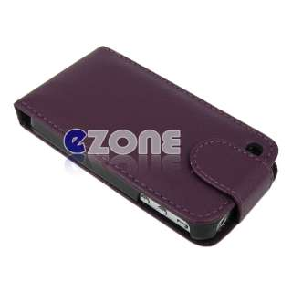 Leather Hard Case Cover Pouch iPhone 4s 4 4g free screen protector