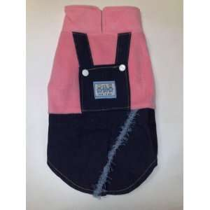 Pink Denim Skirt Dog Apparel Clothing Clothes Size 12