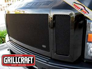 FORD SUPER DUTY FX4 BLACK UPPER MESH GRILLE GRILL 3PC Grillcraft FOR