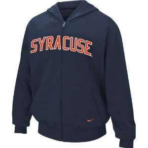 Navy Nike Classic Arch Full Zip Hooded Sweatshirt