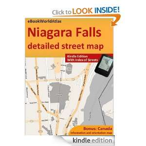 Map of Niagara Falls (Canada, USA) eBookWorldAtlas Team