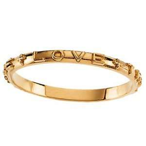 14kt Yellow Gold True Love Chastity Ring with Box Jewelry