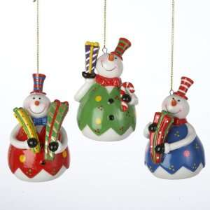 Club Pack of 12 Snowman Christmas Presents Porcelain