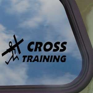 Christian Cross Training Black Decal Truck Window Sticker