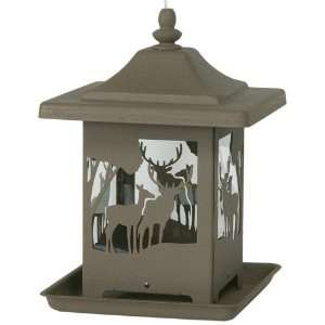 Gardner Homestead Ornamental Bronze Wilderness Bird Feeder