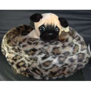 Leopard Cuddle Nest Pet Puppy Dog Cat Soft Bed NEW