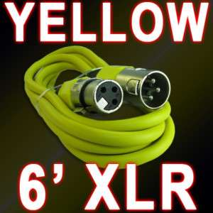 ft yellow XLR MALE TO FEMALE MICROPHONE CABLE CORD