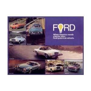 1977 FORD Sales Brochure Literature Book Piece Automotive