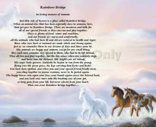 Rainbow Bridge Poem Loss Of Pet Personalized Dog Cat Animal Horse