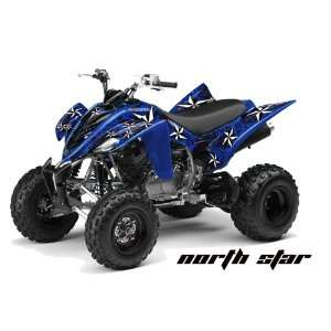 Racing Yamaha Raptor 350 ATV Quad Graphic Kit   Northstar Blue, Black