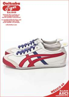 Brand New Asics Onitsuka Tiger Mexico 66 Shoes White / Red #T15