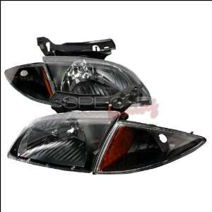Chevrolet Cavalier 2000 2001 2002 Euro Headlights   Black