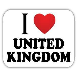 I Love UNITED KINGDOM Car Bumper Sticker Decal 5 X 4