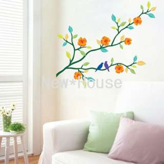 Flower Tree Art Wall Stickers DIY Mural Deco Decal Y054
