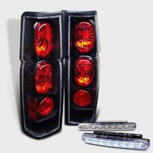Eautolight 86 97 Nissan Hardbody Brake Tail Lights + LED Bumper Fog
