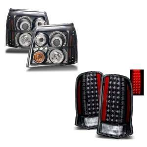 03 06 Cadillac Escalade Black CCFL Projector Headlights