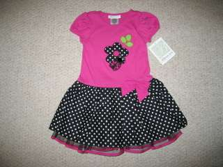 NEW LADYBUG DOT Tulle Dress Boutique Girls Clothes 2T