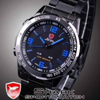 Quartz Date Day Sport Alarm Men Watch Water Resistant With Box