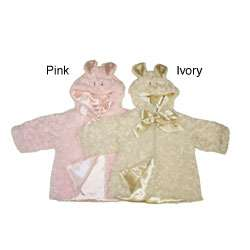 Baby Girls Bunny Faux Fur Jacket