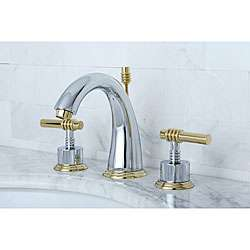 Widespread Chrome/ Polished Brass Bathroom Faucet