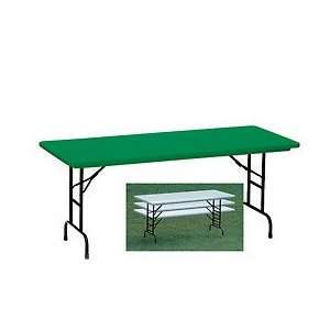 Model Commercial Duty Adjustable Height Folding Table 30X60 Green
