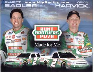 2011 KEVIN HARVICK/ELLIOTT SADLER #2 HUNT BROS. PIZZA