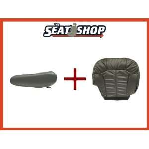 00 01 02 Chevy Silverado Graphite Leather Seat Cover bottom & arm rest