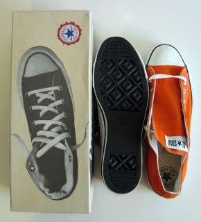 Vintage Chuck Taylor All Star Converse Orange Shoes Sneakers USA NOS